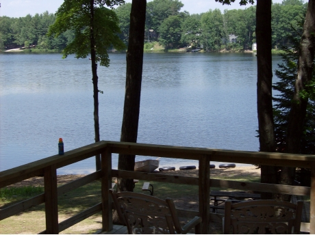 View from deck of 3 bedroom cottage