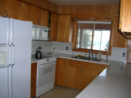 Modern kitchen with all amenities.