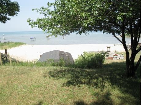 Our beach on Lake Huron