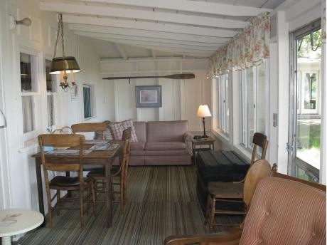 The front porch area facing Lake Huron