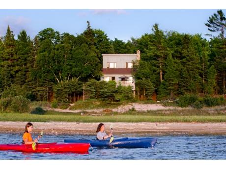 Kayaking on Lake Michigan