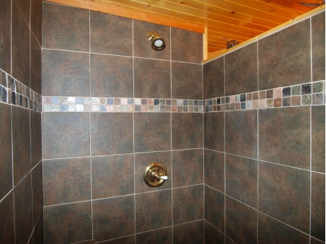 Walk-Inn tile Shower with Bench