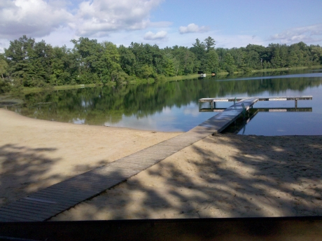 Crystal Lake Swimming Dock and Beach 3 blocks away