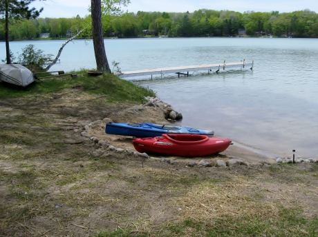 hafe fun with our two kayaks and rowboat.