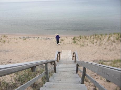 Steps to Lake Michigan 1/4 mile private beach.