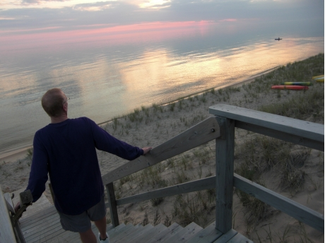 View from deck at beach