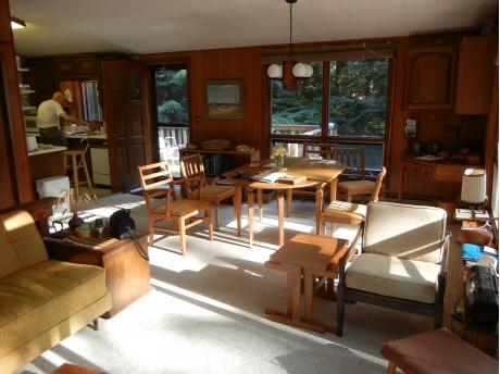 Upstairs dining area.