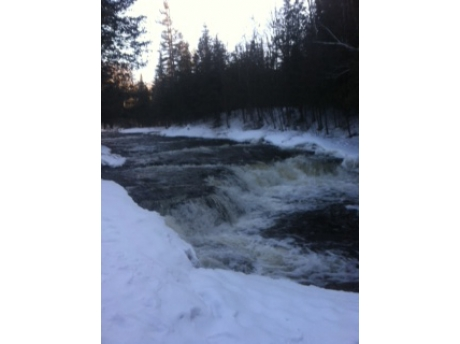 River at Falls in winter