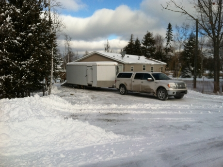 Parking For Truck And Snowmobile Trailer