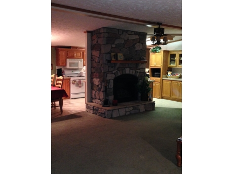 Field Stone Fire Place Gas