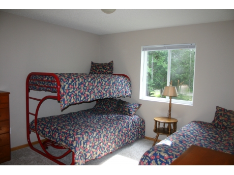 2nd Bedroom can sleep 4, double bed, twin bunk & twin bed
