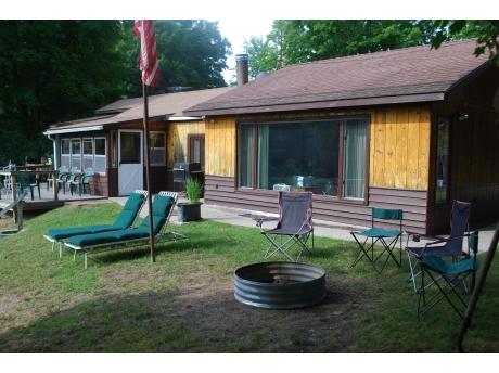 Front/riverside of cabin