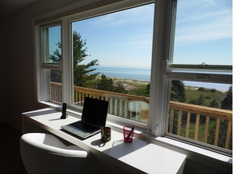 Stay in touch with the office while enjoying the majestic views of Lake Michigan