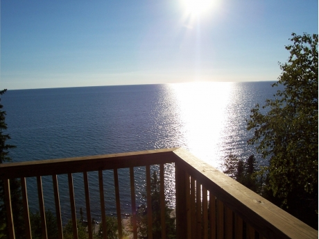 Amazing view of Lake Michigan from our deck.