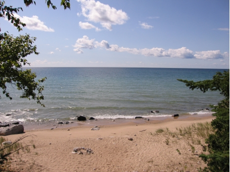 View of our private Lake Michigan Beach!