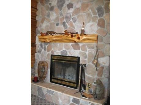 Beautiful Stone wood burning fireplace