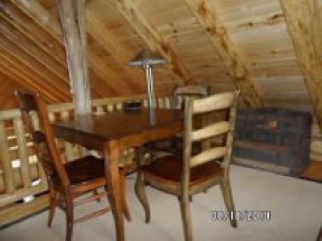 Table is upstairs loft