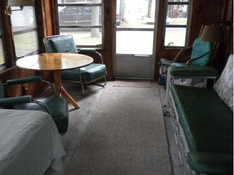 Enclosed porch.