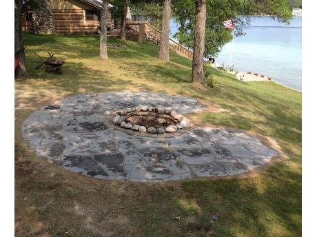 Bonfire pit.