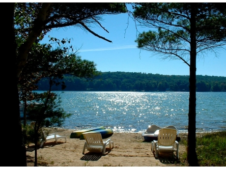 Your private sandy beach on Long Lake