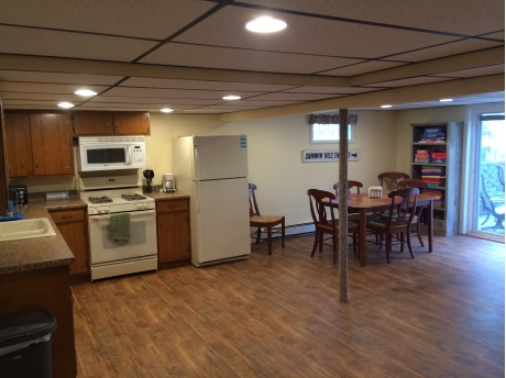 Lower level kitchen and dining room