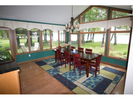 Kitchen with seating for 8 to 10