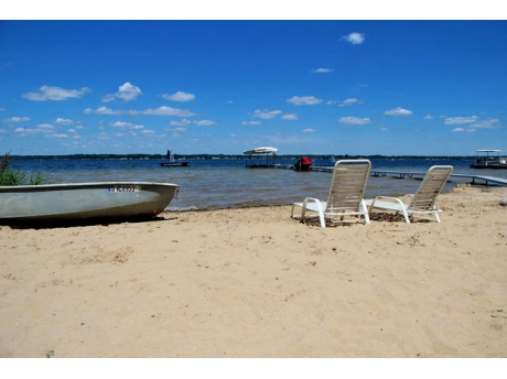 100 feet of Lake Missaukee's beautiful Beach and water.