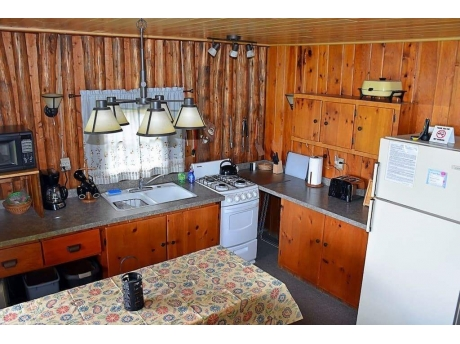 Fully equipped kitchen with modern conveniences