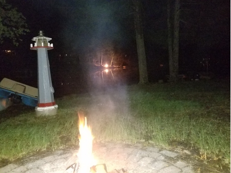 fire pit w/ electricity in lighthouse