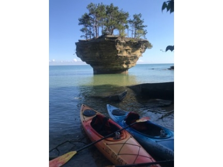 Turnip Rock -Port Austin taken by guests on Sept 23, 2018