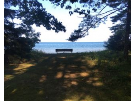 Secluded Access to Lake Huron. Feel free to walk the beach in any direction.