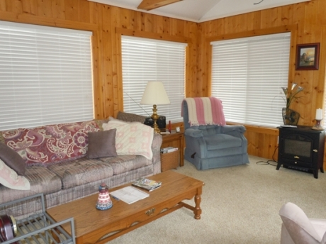 Family Room with Flat Screen TV and sofa sleeper