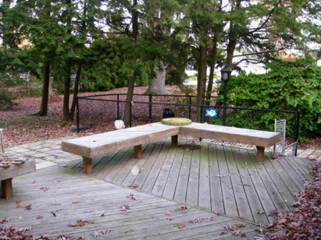 Deck Features Bench Seating