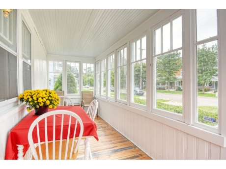 Front Enclosed Porch Overlooking Butler Street
