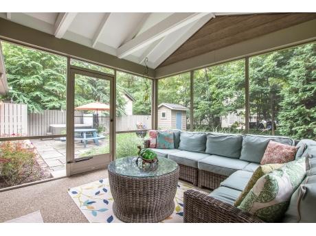 Magical Screen Porch Overlooking the Backyard