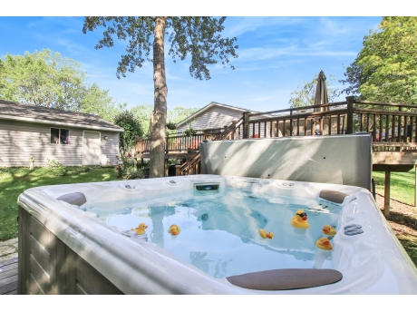 You will Love Relaxing Here in the Hot Tub