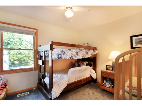 Bedroom with Twin Bunk Bed and Twin Bed  (Crib no longer in room)