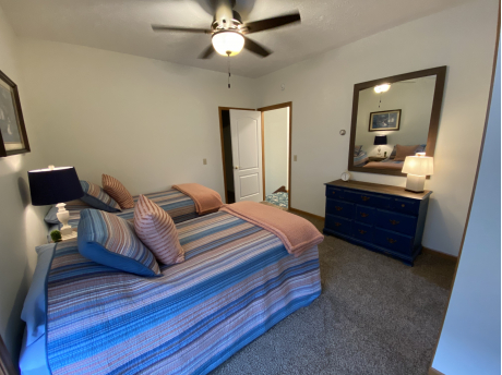 UPSTAIRS TWIN BEDROOM WITH FULL BATH