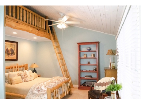 Loft Bedroom has Queen Bed and Loft with two twin mattresses!  Dresser, Desk and Sitting Area too!  Jack & Jill Bathroom Access!