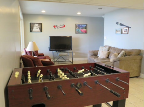 Basement Living Room/Foosball Table