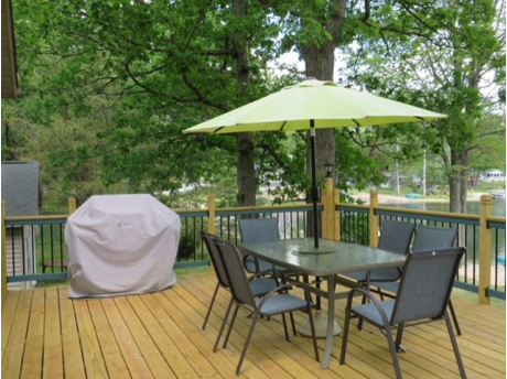 Gas Grill/Dining Table with Umbrella