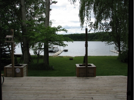 View from the Deck to the Nichols Lake