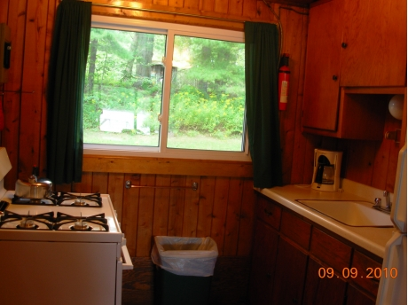 The kitchen of Cabin #1 (all cabins have same layout)