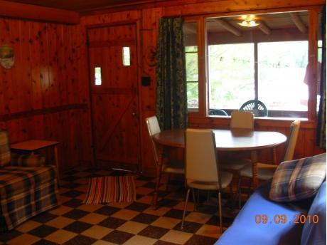 Cabin #1 living room/dining room