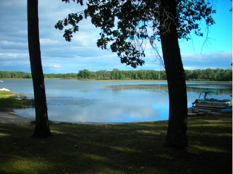View ot West Twin Lake from picture window