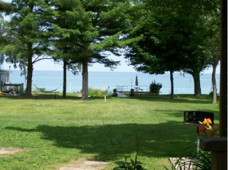 Lakefront view from cottage 1, 2 & 3