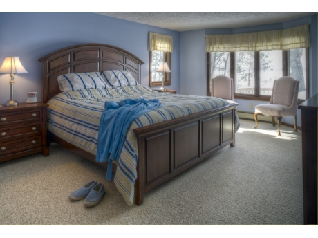 Stretch out and sleep well in the king-size master bedroom