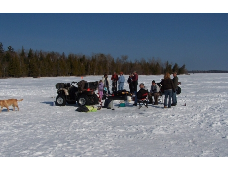 Family and Friends Fun Ice Fishing